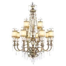 livex lighting 12 light vintage gold leaf incandescent ceiling chandelier