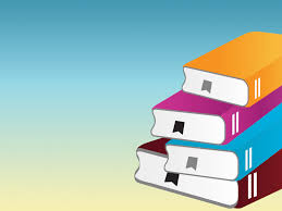 Education Background For Powerpoint Pile Of Books With One Book Powerpoint Templates Blue Education