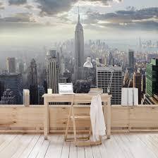 Fototapete No 1929 Vlies New York Tapete Skyline Fenster Innen