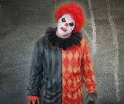 creating an evil clown costume look