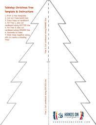 Christmas Tree Stencil Printable Easy Tabletop Christmas Tree With Printable Hands On As