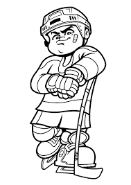 Hockey Coloring Pages Boy Player Sport Coloring Pages Of
