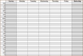 Weekly Calendars With Hours Weekly Calendar By Hour Printable Week Calendar