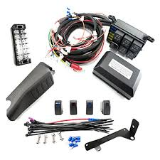 jeep jk control box 4 switch electronic relay system module jeep jk control box 4 switch electronic relay system module wiring harness kit rocker switch mount for accessories and led off road light bars