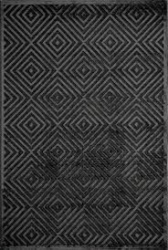 momeni platinum black patterned modern rug