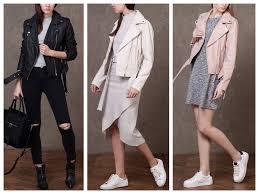 stradivarius zara group real leather white pink black biker jacket with belt