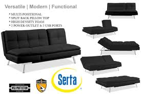 black leather futon sleeper palermo