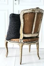 burlap chairs dtressed restoration hardware kitchen chair cushions vintage dining