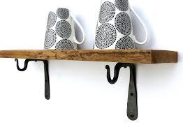 beautiful ideas of wall shelf with baskets and hooks