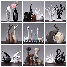 MENA HOME/<b>Nordic</b> simple black and white couples swan ...