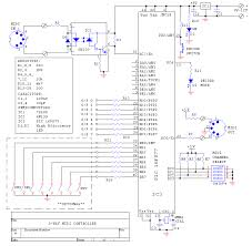 midi 8 way program change circuit schematic
