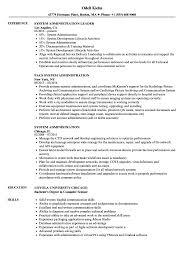 System Administration Resume Samples Velvet Jobs