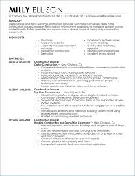 Construction Worker Objective For Resume Igniteresumes Com