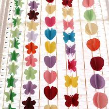 zljq color paper pull flower 3d diy birthday party background