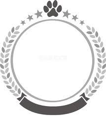 おしゃれ白黒の犬イラスト無料肉球エンブレム82788 素材good