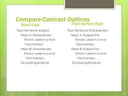 compare contrast expository essay ppt video online  9 compare contrast outlines