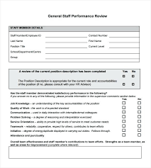 Free Employee Performance Evaluation Form Template Employee Work