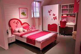 big bedrooms for girls. Pink Color Scheme For Girls Study Room Plus Big White Cupboard Small Wooden Table Iron Chaor With Red Back Brown Rugs Style Wall Bedrooms