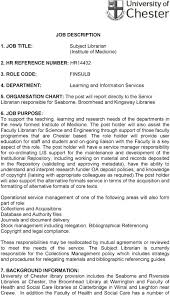 Job Description 4 Department Learning And Information