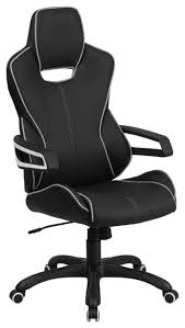 contemporary leather high office chair black. satya highback executive office chair black with white trim contemporary leather high e