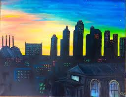 kc sunset skyline choose your color scheme