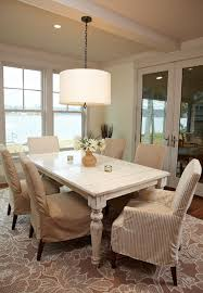 cottage style dining room lighting. marvelous drum pendant lighting in dining room beach style with parsons chair slipcover next to alongside cottage i