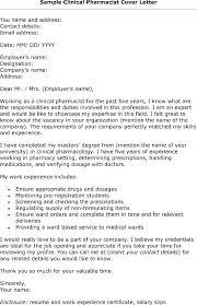 Sample Cover Letter For Oncology Pharmacist Nursing Cover Letter ...