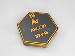 Argon - Ar - Chemical Element Periodic Table Hexagonal Shape Stock ...