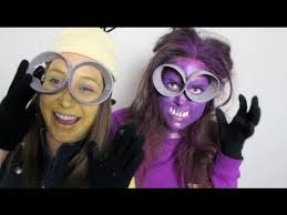 diy minions costume yellow purple