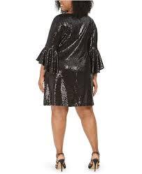 Msk Dresses Size Chart Plus Size Sequinned Bell Sleeve Dress