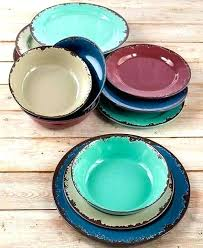 melamine dinnerware sets new rustic set shatterproof bowls and plates dinner target australia outdoor turquoise swirl