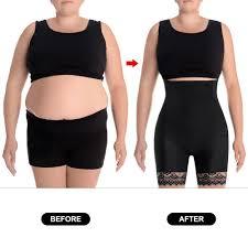 Nebility Women Hi-Waist Tummy Control Butt Lifter Shaper Shorts