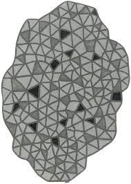 odd shaped rugs unique shaped rugs irregular shaped rugs gray black triangles odd shaped geometric modern