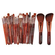 wish genuine goods at a fair crazy promotion 22pcs set makeup brush tools make up toiletry kit wool make up best gift merry