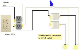 gfci and double rocker issues doityourself com community forums how to wire a light switch from a plug socket at Wiring Diagram For Light Switch And Plug