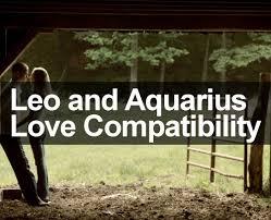 aquarius woman and leo man dating