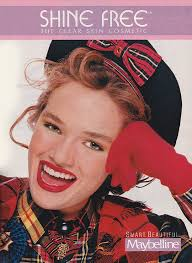 maybelline shine free clear skin cosmetic seven magazine september 1989