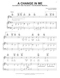 a change in me beauty and the beast sheet music sheet music digital files to print licensed disney digital sheet music