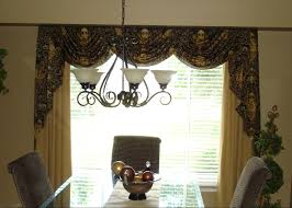 formal dining room window treatments. swags and jabots. for this formal dining room, the window treatment room treatments s