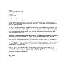 administrative assistant cover letter template executive assistant cover letters
