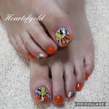 オレンジフットネイル Instagram Posts Gramhanet