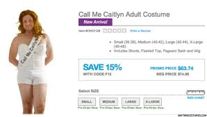 Spirit Halloween Size Chart Caitlyn Jenners Halloween Costume Sparks Outrage Lifestyle