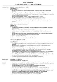 Customer Service Agent Resume Samples | Velvet Jobs