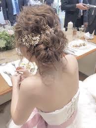 丸顔の花嫁さんに似合うブライダルヘアカタログ Marryマリー