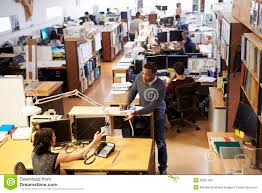 office building interior busy. Contemporary Office Interior Of Busy Architect S Office With Staff Working Throughout Building Dreamstimecom