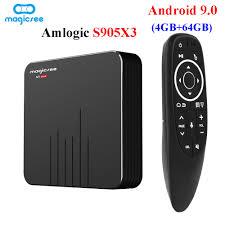 2020 Magicsee N5 Max Amlogic S905X3 Tv Box 4GB DDR4 64GB Android 9.0 Smart Tv  Box 5G Wifi Bluetooth 8K Media Player Set Top Box|Set-top Boxes
