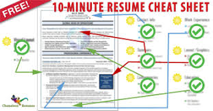 Supercharge Your Resume, and. Land More Interviews With Chameleon Resumes'.  10-Minute Resume Cheat Sheet