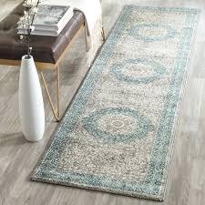 2 x 10 rug runner vintage medallion light grey blue runner rug x runner on
