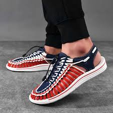 2020 <b>Summer</b> Men Sandals <b>Fashion Handmade</b> Weaving Design ...