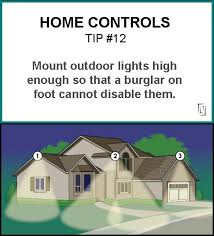 home controls tip 12 mount outdoor lights high enough so that a burglar on foot